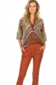 Dante 6 |  Blouse with print Rayner | brown  | Picture 2