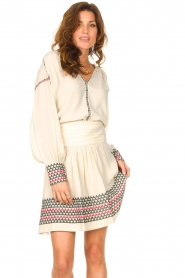 Magali Pascal |  Skirt with embroided details Alexi | natural  | Picture 5