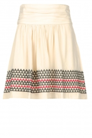 Magali Pascal |  Skirt with embroided details Alexi | natural  | Picture 1