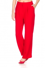 Essentiel Antwerp |  Wide leg trousers Prices | red  | Picture 4