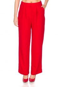 Essentiel Antwerp |  Wide leg trousers Prices | red  | Picture 2