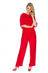 Essentiel Antwerp |  Wide leg trousers Prices | red  | Picture 3