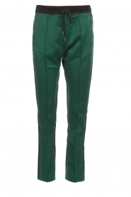 Munthe |  Two-coloured pants Norma | black  | Picture 1