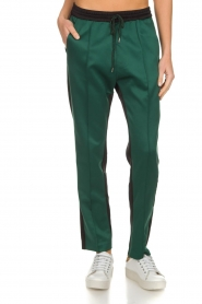 Munthe |  Two-coloured pants Norma | black  | Picture 2