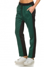 Munthe |  Two-coloured pants Norma | black  | Picture 4