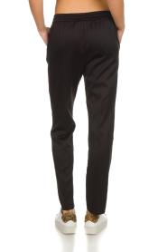 Munthe | Tweekleurige broek Norma | zwart  | Afbeelding 5