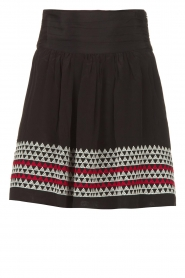 Magali Pascal |  Skirt with embroided details Alexi | black  | Picture 1