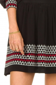 Magali Pascal |  Skirt with embroided details Alexi | black  | Picture 7