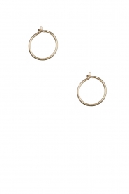 14k plated gold earrings Plain Hoop | gold