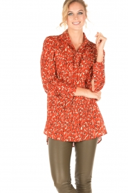 By Malene Birger | Blouse Abracca | rood  | Afbeelding 2