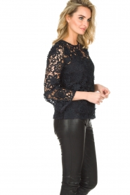 Essentiel Antwerp |  Lace top Pimono | Dark blue  | Picture 4