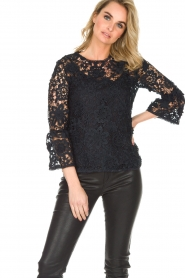 Essentiel Antwerp |  Lace top Pimono | Dark blue  | Picture 2