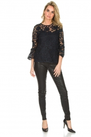 Essentiel Antwerp |  Lace top Pimono | Dark blue  | Picture 3