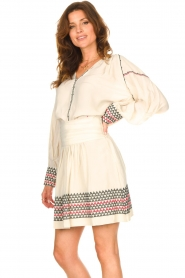 Magali Pascal |  Blouse with embroided details Alexi | natural  | Picture 5