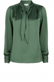 Dante 6 |  Satin pussybow blouse Rodeo | green  | Picture 1