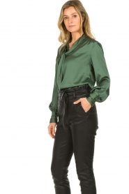 Dante 6 |  Satin pussybow blouse Rodeo | green  | Picture 5