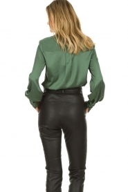 Dante 6 |  Satin pussybow blouse Rodeo | green  | Picture 6