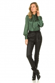 Dante 6 |  Satin pussybow blouse Rodeo | green  | Picture 3