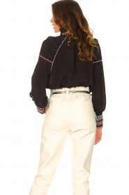 Magali Pascal |  Blouse with embroided details Alexi | black  | Picture 8