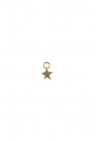 Betty Bogaers | Verguld gouden hanger Assymetric Star (per stuk) | goud  | Afbeelding 2
