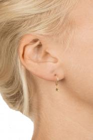 Betty Bogaers | Verguld gouden hanger Assymetric Star (per stuk) | goud  | Afbeelding 3
