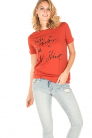 By Malene Birger | T-shirt Levery | rood  | Afbeelding 2