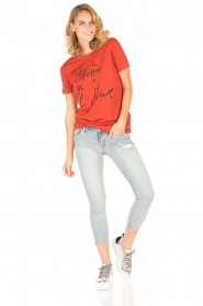 By Malene Birger | T-shirt Levery | rood  | Afbeelding 3