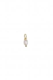 Betty Bogaers | Verguld gouden hanger Pearl (per stuk) | goud  | Afbeelding 1