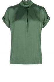 Shiny blouse | green