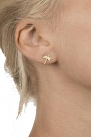 Betty Bogaers | 14k verguld gouden oorbellen Dragonfly | goud  | Afbeelding 3