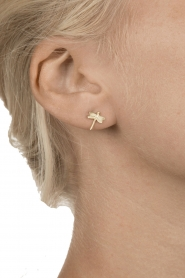 14k gold plater earrings Star hook | Gold