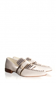 What For |  Striped leather loafers Lucya | white  | Picture 4