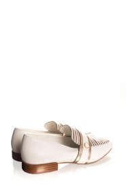 What For |  Striped leather loafers Lucya | white  | Picture 5
