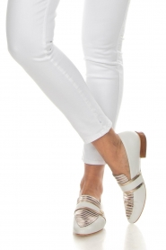 What For |  Striped leather loafers Lucya | white  | Picture 3
