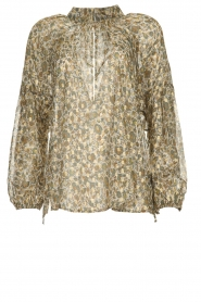 Dante 6 |  Blouse with lurex | beige  | Picture 1