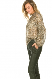 Dante 6 |  Blouse with lurex | beige  | Picture 4