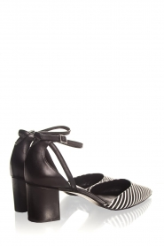 What For |  Leather sandals Florine | black & white  | Picture 4