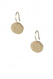 Betty Bogaers | 14k verguld gouden oorbellen Coin star | Goud  | Afbeelding 2