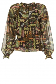 Dante 6 |  Blouse with print Agna | black  | Picture 1
