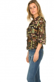 Dante 6 |  Blouse with print Agna | black  | Picture 5