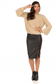Leather pencil skirt Benedict | black