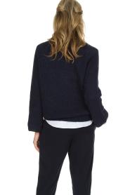 Essentiel Antwerp | Warme trui met V-hals Paling | donkerblauw  | Afbeelding 5
