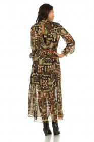Dante 6 :  Maxi dress with print Valkyrie | black - img6