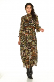 Dante 6 :  Maxi dress with print Valkyrie | black - img3