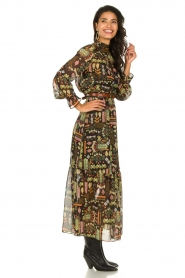 Dante 6 :  Maxi dress with print Valkyrie | black - img5