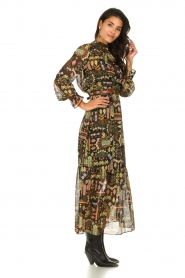 Dante 6 :  Maxi dress with print Valkyrie | black - img4