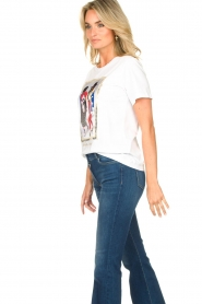 Nenette |  T-shirt with print Dresda | white  | Picture 5