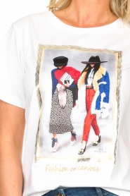 Nenette |  T-shirt with print Dresda | white  | Picture 7