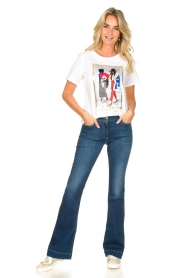 Nenette |  T-shirt with print Dresda | white  | Picture 3