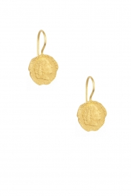 14k gold plated earrings Ten cent | Gold
